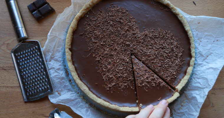 Simplissime tarte au chocolat (sans gluten, vegan)