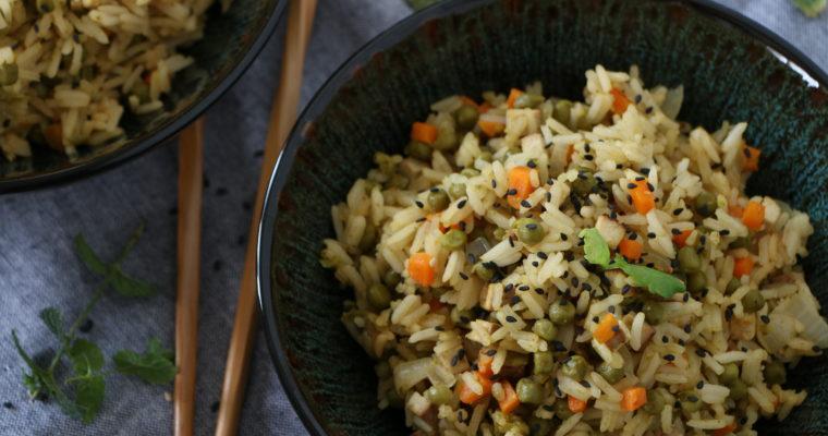 Riz cantonnais (facile, vegan)