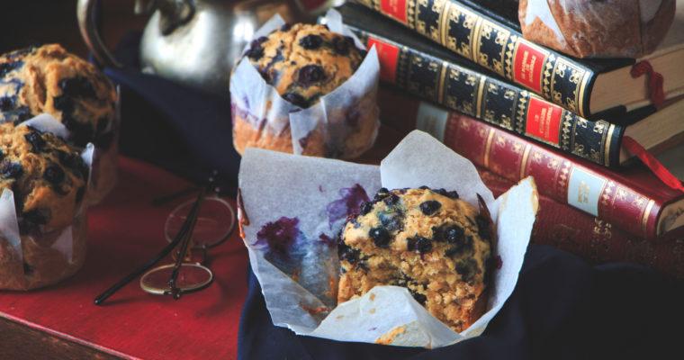 Muffins au thé et aux myrtilles