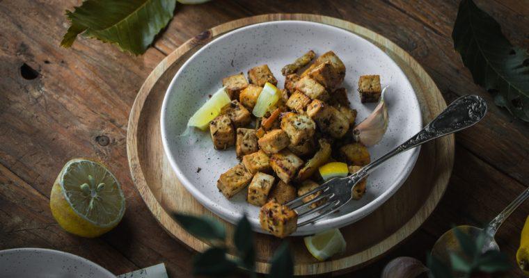 Tofu au citron et aux herbes