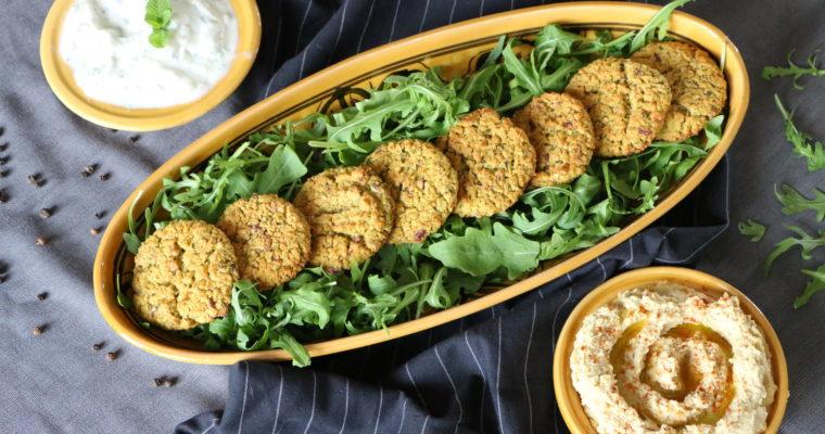Falafels au four, houmous et tzatziki