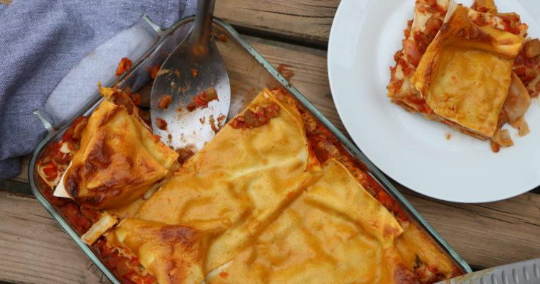 Lasagnes vegan aux légumes d'été