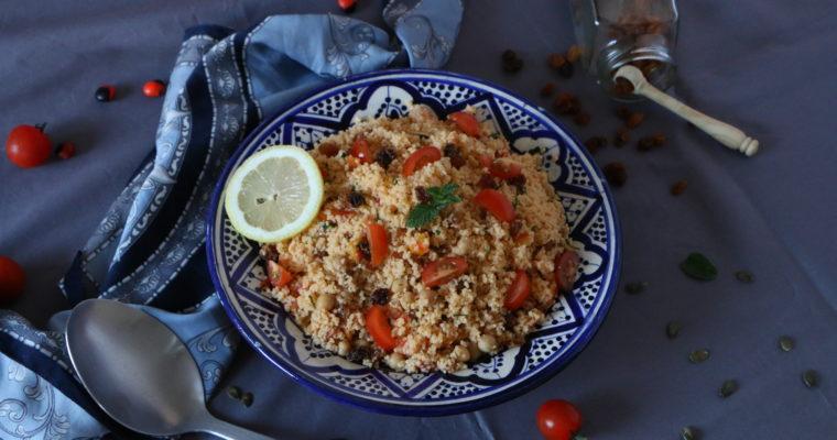 Salade de semoule inspiration marocaine