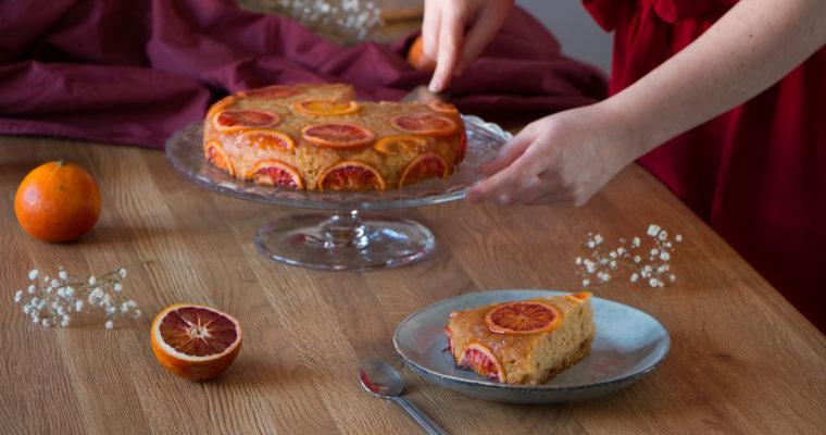 Gâteau moelleux à l'orange sanguine