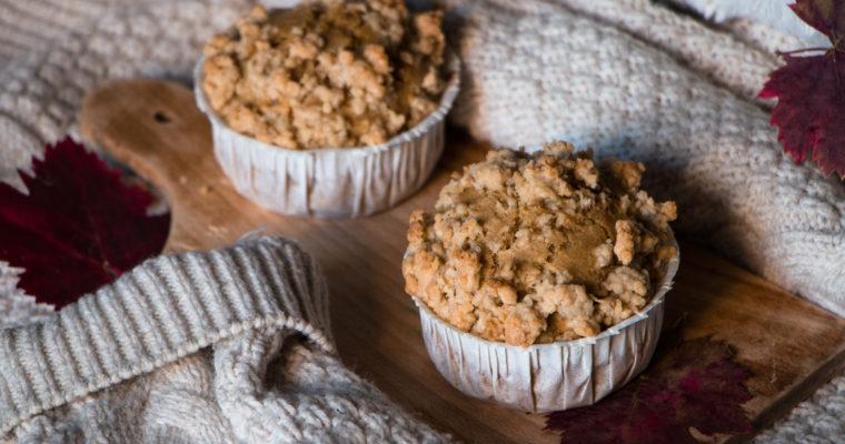 Muffins à la citrouille et crumble