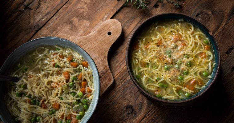 Soupe de vermicelles aux petits légumes
