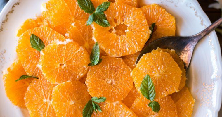 Salade d'oranges à la fleur d'oranger