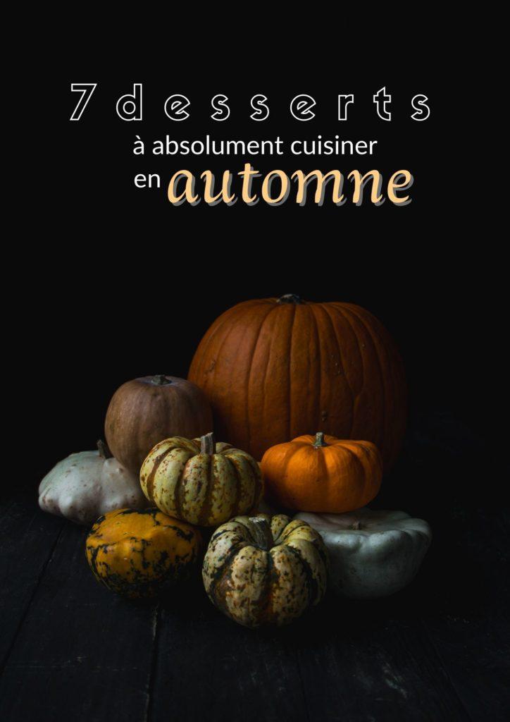 7 desserts vegan automne