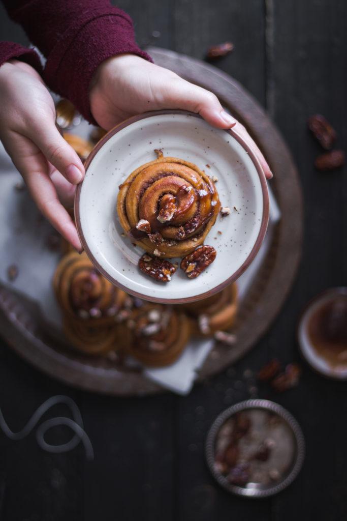 Cinnamon rolls à la citrouille